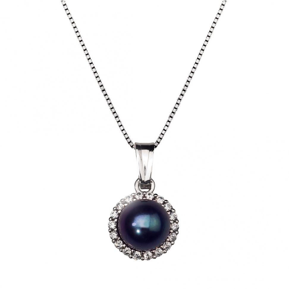 šperk Přívěs bílé zlato s perlou